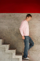 Man Descending Stairs