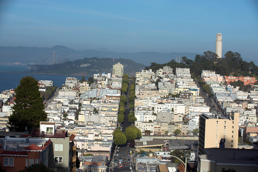 Coit Tower and North Beach, San Francisco, California