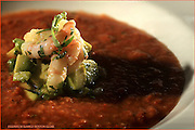 Boston, MA 072310   A gazpacho dish from Post 390 on Stuart St in Boston photographed on July 23, 2010. (Essdras M Suarez/ Globe Staff)G