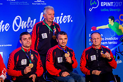 Medal ceremony after day 7 of 15th EPINT tournament - European Table Tennis Championships for the Disabled 2017, at Arena Tri Lilije, Lasko, Slovenia, on October 4, 2017. Photo by Ziga Zupan / Sportida