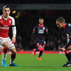 Hector Bellerin of Arsenal on the ball during Arsenal vs Huddersfield, Premier League, 29.11.17 (c) Harriet Lander | SportPix.org.uk