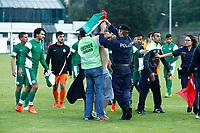 Supporters turques Palestinien arrête par la police Autrichienne
