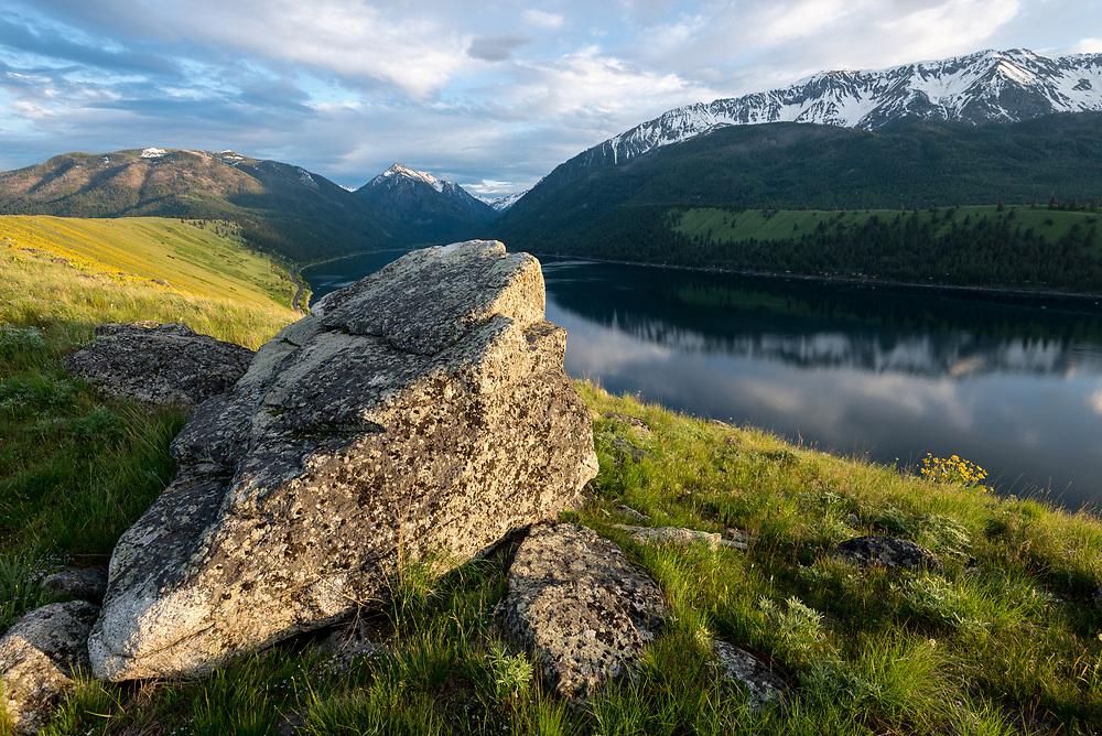 Boulders on the Wallowa Lake moraine in Northeast Oregon.