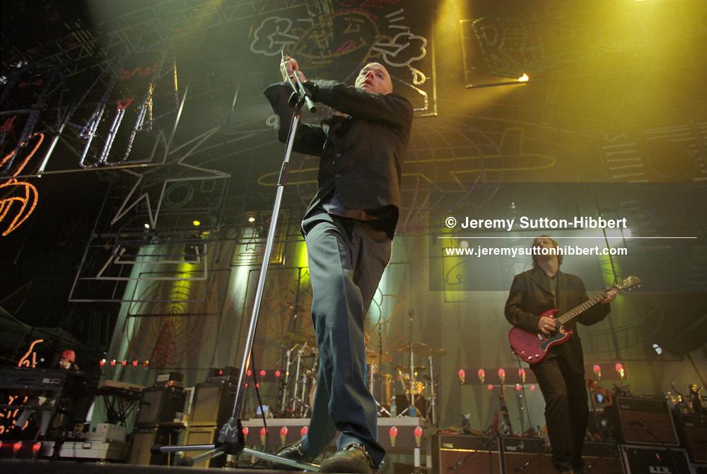 Michael Stipe and REM in concert at Stirling Castle, in Glasgow, Scotland, on 98/99.Rex 308665 JSU.