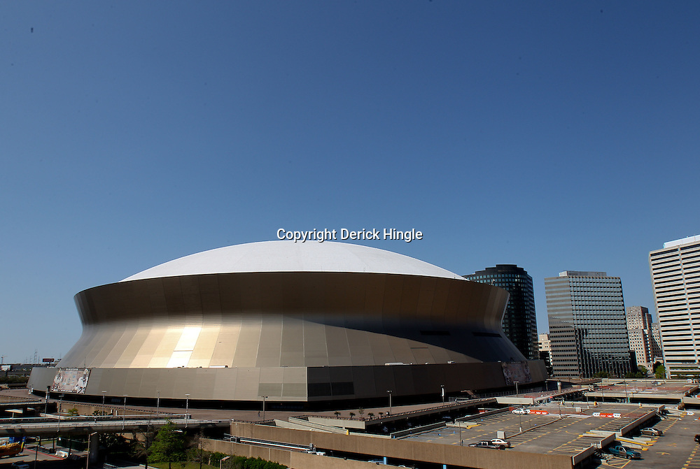 Mar 24, 2011; New Orleans, LA; A general view of the Louisiana Superdome home of the 2012 NCAA Final Four before the start of the semifinals of the southeast regional of the 2011 NCAA men's basketball tournament at New Orleans Arena.  Mandatory Credit: Derick E. Hingle
