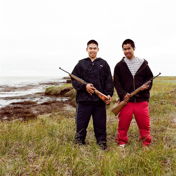 NEWTOK, ALASKA - 2008: Bosco and Bosco.