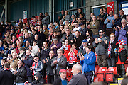 Stirling Albion fans minutes applause for Dundee - Stirling Albion v Dundee, IRN BRU Scottish League 1st Division, Forthbank Stadium, Stirling<br /> <br />  - © David Young<br /> ---<br /> email: david@davidyoungphoto.co.uk<br /> http://www.davidyoungphoto.co.uk