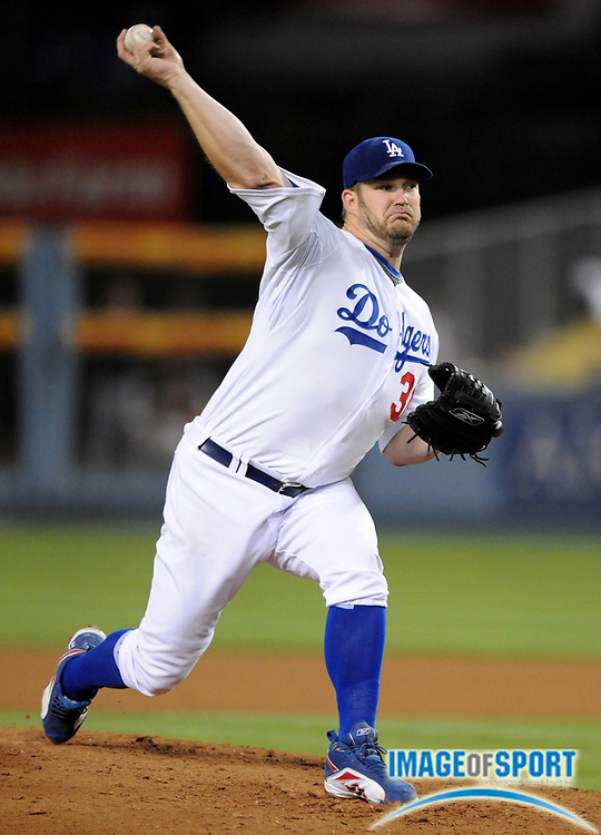 Apr 16, 2008; Los Angeles, CA, USA; Los Angeles Dodgers starter Brad Penny (31) pitches during game against the Pittsburgh Pirates at Dodger Stadium.