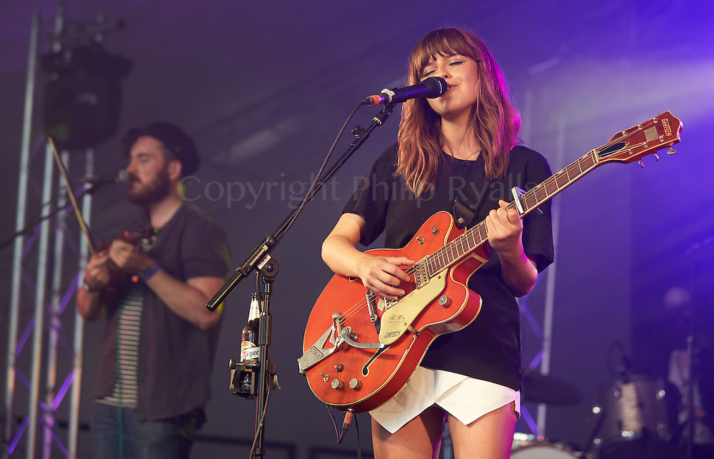 OXFORDSHIRE, UK - JULY 09: Gabrielle Aplin performs on stage at The Cornbury Music Festival on July 9th, 2016 in Oxfordshire, United Kingdom. (Photo by Philip Ryalls)**Gabrielle Aplin