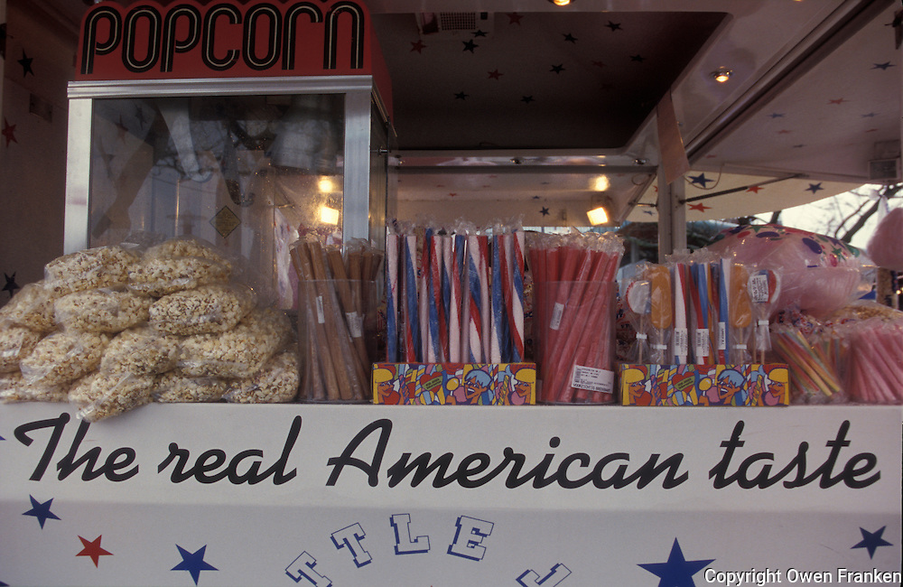 American junk food stand in Amsterdam - photograph by Owen Franken