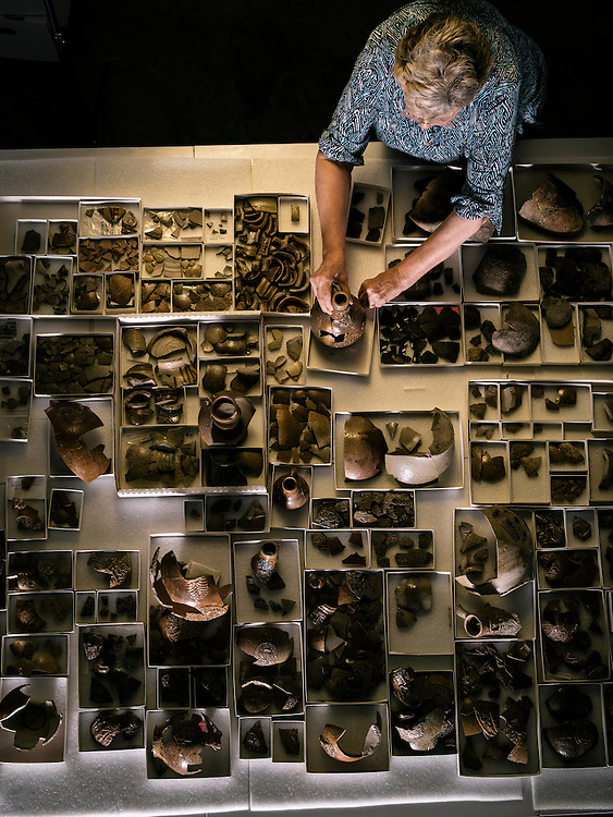 Merry Outlaw, curator at Jamestown Rediscovery, keeps hundreds of artifacts organized that are found throughout the first permanent settlement in Virginia.