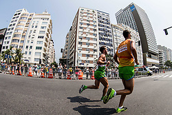 Blind Sandi Novak of Slovenia (with guide Urban Jereb of Slovenia) competes at Men's Marathon - T12 Final during Day 11 of the Rio 2016 Summer Paralympics Games on September 18, 2016 in Copacabana beach, Rio de Janeiro, Brazil. Photo by Vid Ponikvar / Sportida