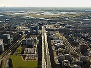 Nederland, Zuid-Holland, Zoetermeer, 20-02-2012; de wijk Meerzicht, gezien naar de A12 met .Overview on residential district and recreation area Meerzicht of the city of Zoetermeer..copyright foto/photo Siebe Swart