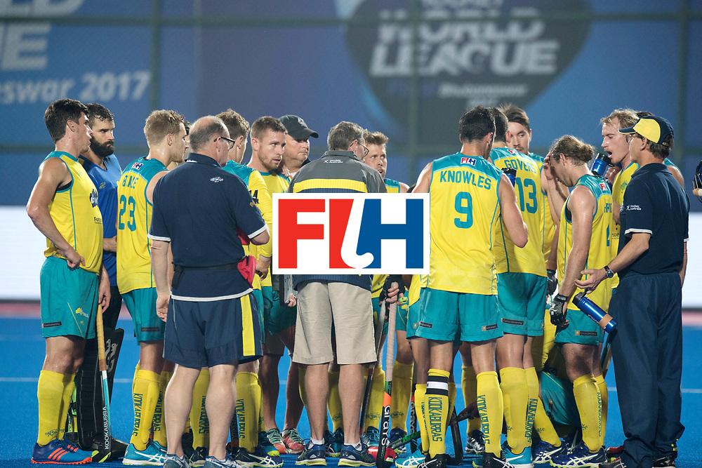 Odisha Men's Hockey World League Final Bhubaneswar 2017<br /> Match idHuddle in the quart Australia.<br /> WORLDSPORTPICS COPYRIGHT FRANK UIJLENBROEK