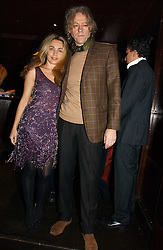 SIR BOB GELDOF and MISS JEANNE MARINE at The Christmas Cracker - an evening i aid of the Starlight Children's Charity held at Frankies, Knightsbridge on 13th December 2006.<br />
