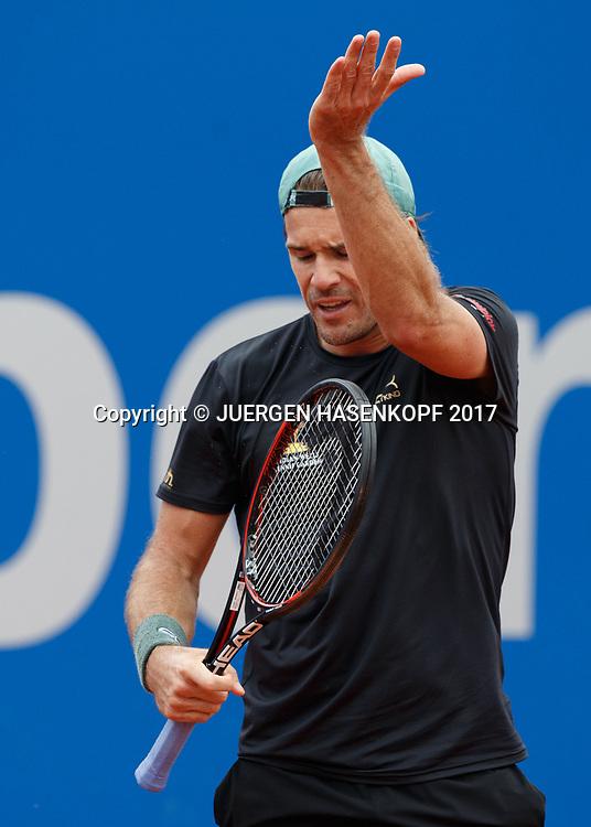 TOMMY HAAS (GER) reagiert veraergert,Aerger, Enttaeuschung,Emotion,<br /> Tennis - BMW Open2017 -  ATP  -  MTTC Iphitos - Munich -  - Germany  - 3 May 2017.
