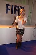 Margot Stilley, Fiat Punto launch. Atlaantis Gallery, Brick Lane. London. 19  January 2006.  ONE TIME USE ONLY - DO NOT ARCHIVE  © Copyright Photograph by Dafydd Jones 66 Stockwell Park Rd. London SW9 0DA Tel 020 7733 0108 www.dafjones.com