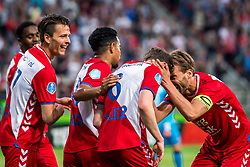 12-05-2018 NED: FC Utrecht - Heerenveen, Utrecht<br /> FC Utrecht win second match play off with 2-1 against Heerenveen and goes to the final play off / (L-R) Lukas Gortler #27 of FC Utrecht, Rico Strieder #6 of FC Utrecht score the 1-0, Willem Janssen #14 of FC Utrecht