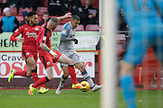 Hayden Jackson during the EFL Sky Bet League 2 match between Crawley Town and Grimsby Town FC at the Checkatrade.com Stadium, Crawley, England on 26 November 2016. Photo by Jarrod Moore.