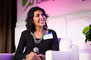 "Deepa Sureka, General Manager & Senior Vice President, North America for Rakuten Marketing on ""Data Analytics Is The New Currency"" panel during Media Technology Summit 2014 on October 23, 2014. The 7th Annual Media Technology Summit meticulously curates a gathering of global trailblazers, innovators and investors. Landmark Ventures and Shelly Palmer bring together their exclusive global networks of Fortune 500 executives, venture capitalists, entrepreneurs and luminaries; to do business at the nexus of content, hardware, software and brands. The Media Tech Summit 2014 offered a place for the brightest minds to challenge paradigms, forecast trends and innovations, and share their rebellious perspectives in order to establish individual strategies to move forward in this connected world. (Photo: Jeffrey Holmes)"