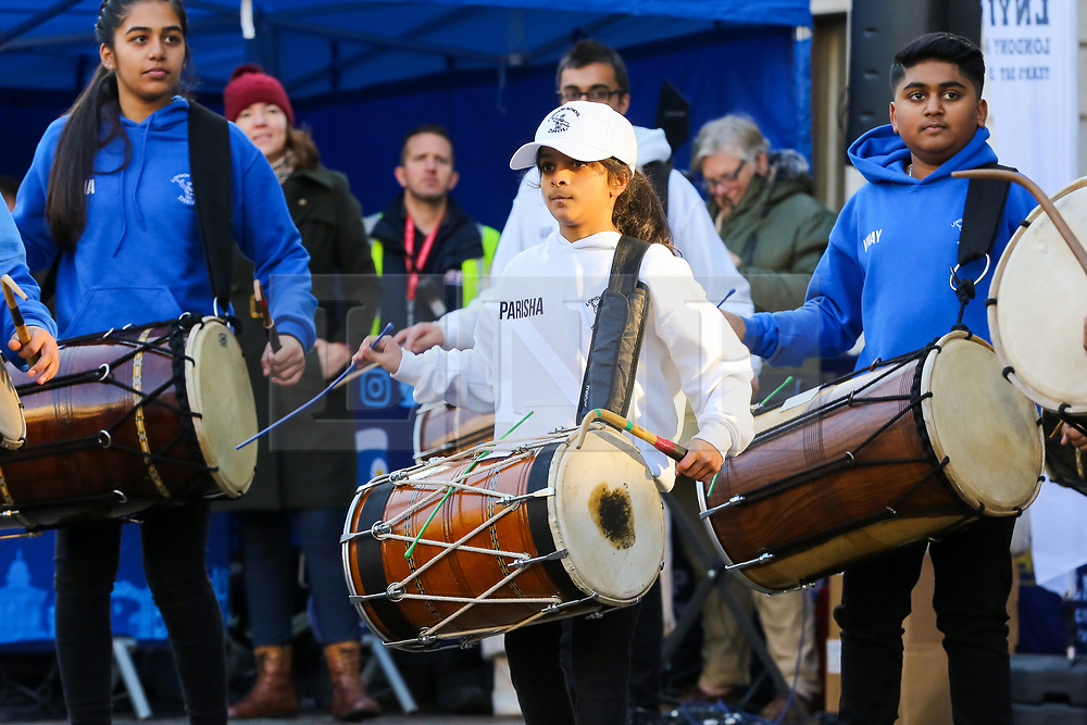 © Licensed to London News Pictures. 30/12/2019. London, UK. Performers from London School of Dhol perform at the preview of the London New Year's Day Parade in Covent Garden Piazza.<br /> The London New Years Day Parade, in its 32nd year will take place on 1 January 2020 and will feature more than 10,000 performers from across the world. Photo credit: Dinendra Haria/LNP