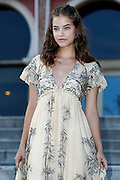 "- VENEZIA - <br /> Venice Film Festival: Barbara Palvin's photocall<br /> <br /> Barbara Palvin is only 23 years old but she is one of the most succesful models. The young Hungarian beauty has posed for photographers in an exceptional location, the Hotel Excelsior beach, where a few moments away was held the photocall of Sonia Bergamasco, who is going to host the Venice Film Festival, wearing a dress designed by Alberta Ferretti. The movies, for her,  is not uncharted territory: in 2014 she played the princess in Antimaca ""Hercules - The Warrior,"" starring Dwayne Johnson and Irina Shayk.<br /> ©Exclusivepix Media"