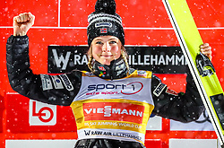 12.03.2019, Lysgards Schanze, Lillehammer, NOR, FIS Weltcup Skisprung, Raw Air, Lillehamer, Einzelbewerb, Damen, im Bild Siegerin Maren Lundby (NOR) // Winner Maren Lundby of Norway during the ladie's individual competition of the 2nd Stage of the Raw Air Series of FIS Ski Jumping World Cup at the Lysgards Schanze in Lillehammer, Norway on 2019/03/12. EXPA Pictures © 2019, PhotoCredit: EXPA/ Tadeusz Mieczynski