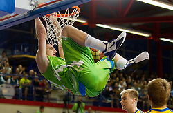 Alen Omic of Slovenia during basketball match between National teams of Sweden and Slovenia in First Round of U20 Men European Championship Slovenia 2012, on July 13, 2012 in Domzale, Slovenia. (Photo by Vid Ponikvar / Sportida.com)