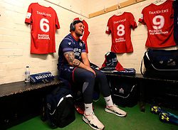 Jack Lam of Bristol Rugby sits in the dressing room at Nottingham Rugby - Mandatory by-line: Robbie Stephenson/JMP - 06/04/2018 - RUGBY - The Bay - Nottingham, England - Nottingham Rugby v Bristol Rugby - Greene King IPA Championship