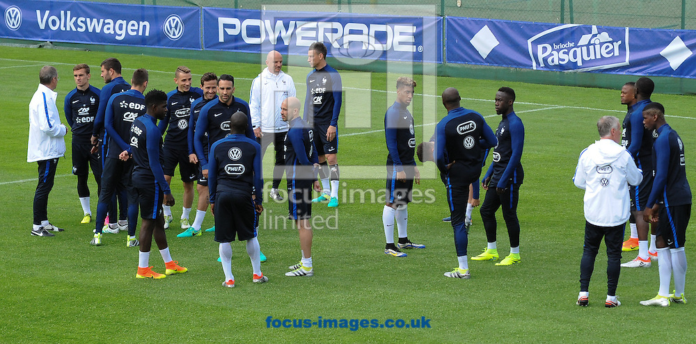 The squad during France training at Alpenstadion, Neustift, Austria<br /> Picture by EXPA Pictures/Focus Images Ltd 07814482222<br /> 01/06/2016<br /> ***UK &amp; IRELAND ONLY***<br /> EXPA-SPI-160601-4081.jpg