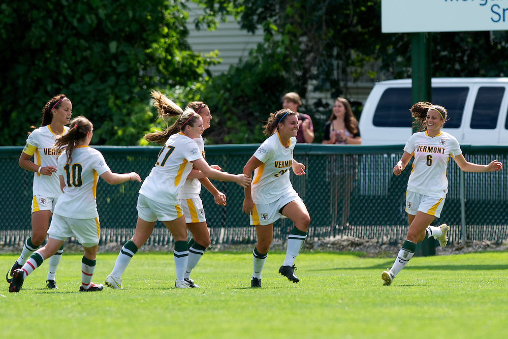The women's soccer gaem between American and the Vermont Catamounts at Centennial Field on August 29, 2011 in Burlington, Vermont.