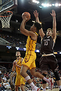Nov 22, 2017; Los Angeles, CA, USA; Southern California Trojans forward Bennie Boatwright (25) is defended by Lehigh Mountain Hawks center James Karnik (13) during an NCAA basketball game at Galen Center. USC defeated Lehigh 88-63.