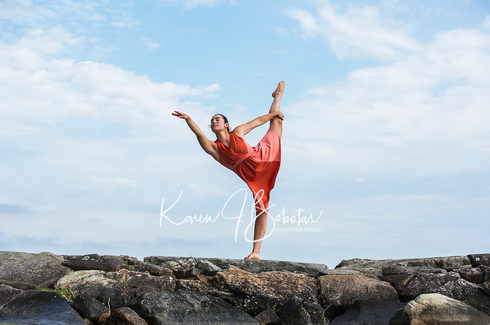 Dance shoot with  Ella M.  ©2015 Karen Bobotas Photographer