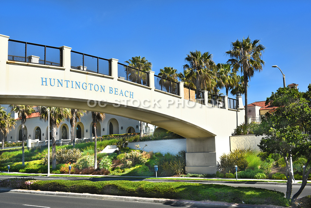 Huntington Beach Pedestrian Bridge to Hyatt Resort