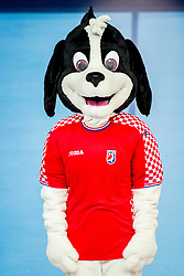 Mascot EHF Euro 2018 during handball match between National teams of Austria and France on Day 3 in Preliminary Round of Men's EHF EURO 2018, on January 14, 2018 in Arena Zatika, Porec, Croatia. Photo by Ziga Zupan / Sportida