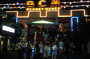The BCM Planet Dance complex, Magaluf, Majorca, 1990s.