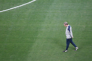 England manager Roy Hodgson looks down at the pitch during the England training session at Arena Corinthians, Sao Paulo, Brazil, on the eve of their World Cup 2014 Group D match against Uruguay.<br /> Picture by Andrew Tobin/Focus Images Ltd +44 7710 761829<br /> 18/06/2014