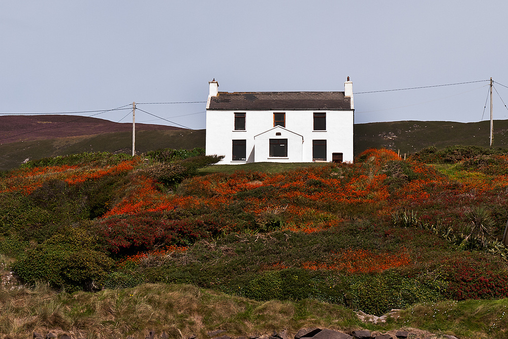 White house on the Dingle Peninsula