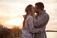 Men, Women, Portrait, Kissing, Love, Affectionate, Sunset,