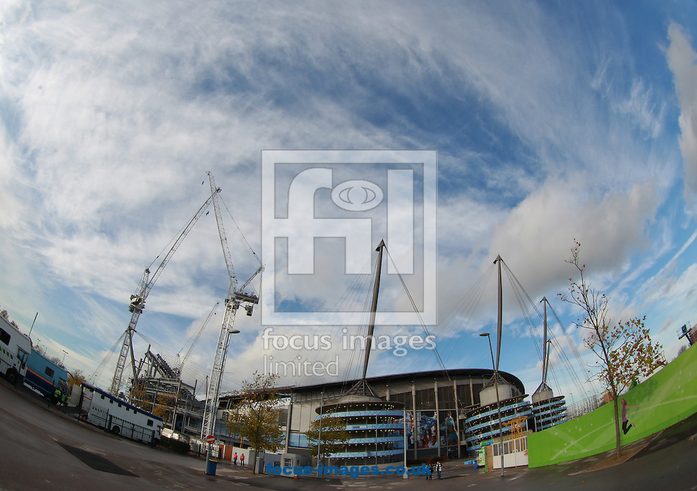 General view of the Etihad Stadium, Manchester<br /> Picture by John Rainford/Focus Images Ltd +44 7506 538356<br /> 02/11/2014