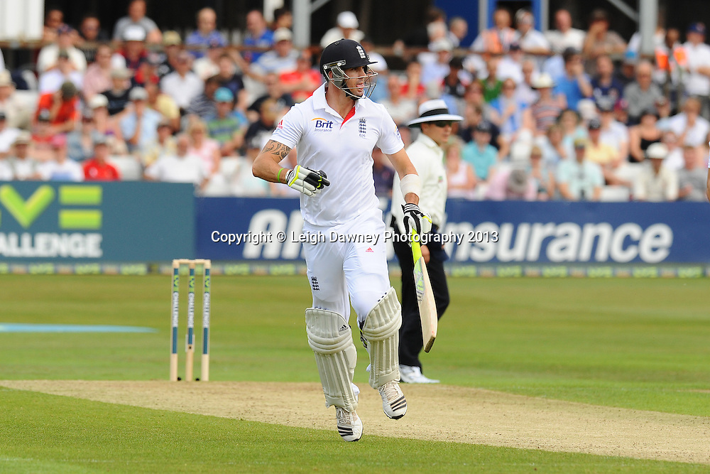 Kevin Pietersen of England making a run during England v Essex first day of a four day Ashes warm up game at the Essex County Cricket Ground, 30.06.13.  Credit: © Leigh Dawney Photography. Self Billing where applicable. Tel: 07812 790920
