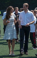The Duke and Duchess of Cambridge attend a sports themed event at Bacon's College in London, Thursday, 26th July 2012  Photo by: i-Images