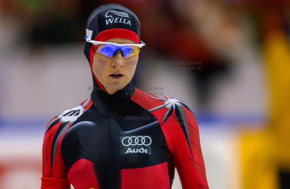 04-01-2003 NED: Europees Kampioenschappen Allround, Heerenveen<br /> 1500 m / Claudia Pechstein GER