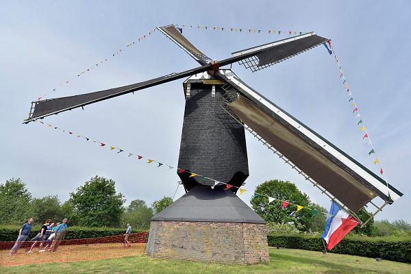 Nederland, Nederasselt, 12-5-2018Open molendag bij de gerestaureerde Maasmolen.Foto: Flip Franssen