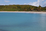 Red Beach or playa caracas beach in Vieques Island, Puerto Rico.