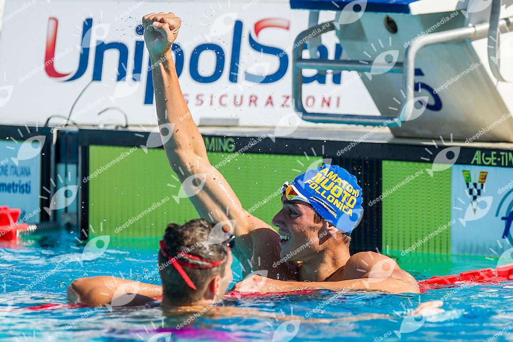 Alessandro Tedesco ITA <br /> Amatori Nuoto Follonica<br /> 100 Dorso Uomini<br /> Stadio del Nuoto, Roma<br /> Day 07 10-08-2016<br /> Campionati Italiani di Categoria 2016<br /> Photo Andrea Masini/Deepbluemedia/Insidefoto