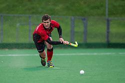 Southgate's Matt Guise-Brown. Southgate v Cambridge City - Men's Hockey League, East Conference, Trent Park, London, UK on 14 November 2015. Photo: Simon Parker