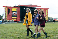 © Licensed to London News Pictures. 22/08/2014. Reading, UK.   Festival at Reading Festival 2014 on Friday morning, the opening day, just after the gates open at 11am.  The weather is sunny with light cloud.   Today is expected to remain dry with a 25% risk of showers.  Photo credit : Richard Isaac/LNP