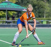 BLOEMENDAAL   - Ankelein Baardemans (Bldaal)   tijdens de oefenwedstrijd dames Bloemendaal-Victoria, te voorbereiding seizoen 2020-2021.   COPYRIGHT KOEN SUYK