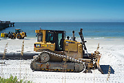Redington Beach, Pinellas County, Florida, USA., 12th October 2018, Caterpillar D6T XW, Bulldozer,  at work on the Beach Replenishment,
